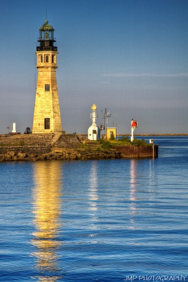 A Sunset on the Buffalo River Overlooking a Lighthouse. Photo Credit: Jimmy Emerson, Flickr