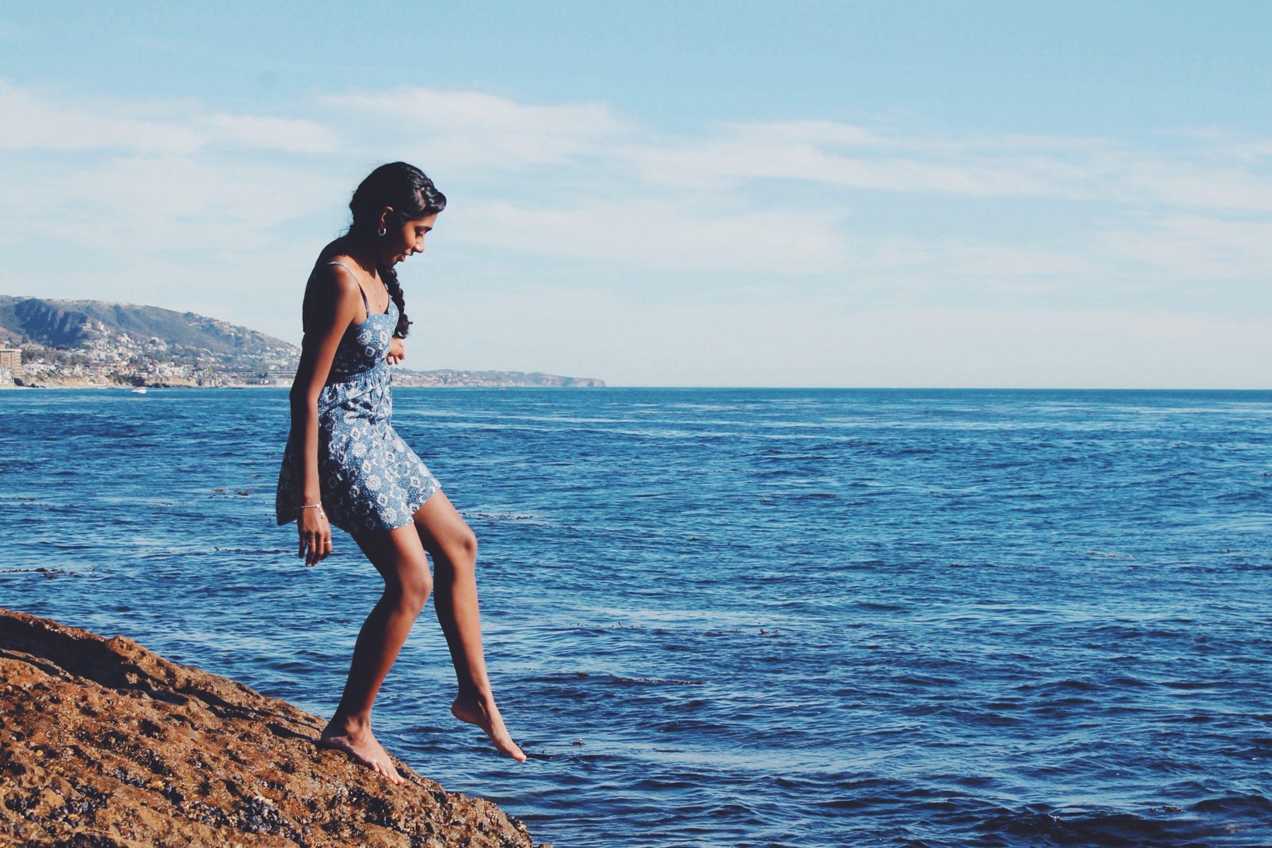 woman-approaching-water